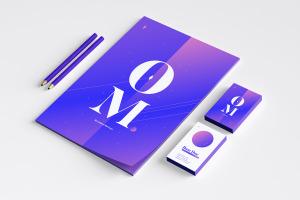 品牌VI设计案例预览办公用品套装样机03 Stationery Mockup 03插图2