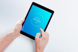 平板电脑APP&网站设计演示样机模板 Isolated Tablet Mock-up插图9