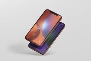 高品质iPhone XR智能设备样机 Phone XR Mockup插图3