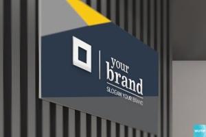 3D立体logo标志企业文化办公室设计VI样机展示模型mockups插图12