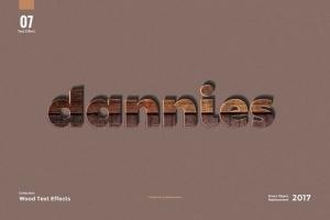 8款超逼真木纹效果PS字体样式 8 Wood Text Effects插图9