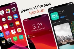 iOS13系统APP图标及APP Store预览样机模板 iOS 13 App Icon Template插图3