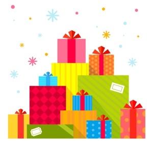 圣诞节礼物矢量插画设计素材 Set of Christmas illustrations with machines插图4