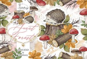 甜蜜森林手绘设计插画PNG素材 Sweet Forest design插图2