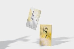 企业名片侧立面效果图样机模板 Business Card Stack Mockup in 90×50 Format插图5