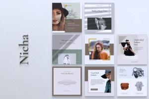 品牌服装Instagram品牌故事设计模板 NICHA Instagram Post插图7