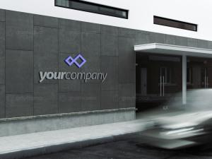 公司建筑Logo标志设计效果图样机模板 Company Building Sign Mockup插图5