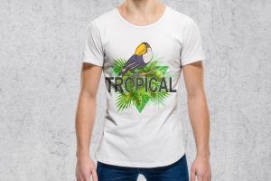 巨嘴鸟&花卉水彩手绘矢量插画素材 Tropical Vibes Vector Design Kit插图3