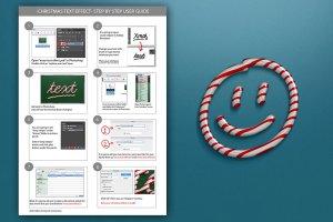 圣诞节日气氛创意海报字体PS图层样式 Christmas text effect插图4