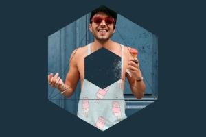12个破损几何图形背景PSD分层模板 Instagram Textured Geometric Masks插图7