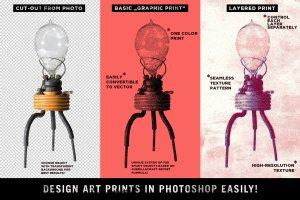复古影印打印风格图层样式 Misprinter for Adobe Photoshop插图2