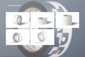 纸胶带外观图案设计样机 Paper Duct Tape Mockup插图3