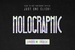 全息彩色渐变镭射纹理PS字体样式 Holographic Photoshop Layer Styles插图5