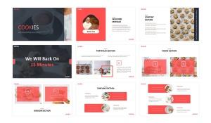 美食品牌宣传/餐饮培训公司适用的Keynote模板 Cookies  – Business Keynote Template插图2