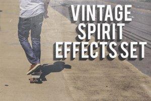 即时复古照片处理效果 Vintage Spirit Effects Set插图1