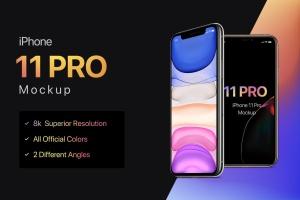 8K超高清分辨率iPhone 11 Pro手机样机模板 iPhone 11 Pro Mockup插图1