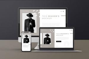 响应式网页设计多设备预览样机PSD模板 Modern Device Mockups插图5