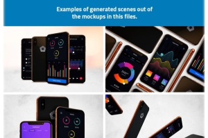 360度全方位 iPhone X 样机模板 iPhone X Kit Mockup插图8