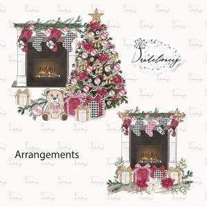 圣诞节客厅装饰剪贴画PNG素材 Christmas Home design插图2