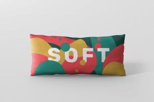 时尚多彩长矩形沙发卧室枕头样机模板 Pillow Mockup – Long Rectangle插图6