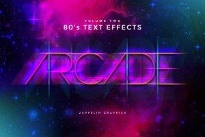 80年代文本图层样式 80s Text Effects插图10