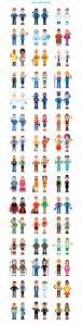 90种不同类型的卡通人物形象图标 90 Miscellaneous Avatar Characters插图2