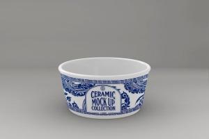 浮雕陶瓷餐具样机模板 Ceramic Pot Packaging MockUp插图4