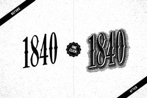 复古蚀刻腐蚀AI图层样式 Etch Vintage Graphic Styles插图2