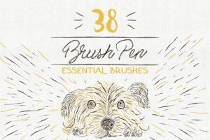 数码绘画大师AI画笔笔刷大合集 Essential Vector Brushes Collection插图2