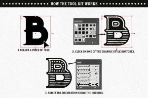 字体文本手绘装饰元素AI设计工具套件 Fineliner Type Decorator's Tool Kit插图9