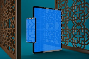 阿拉伯文APP应用iPhone XS和iPad Pro样机模板 Arabic iPhone XS & iPad Pro插图9