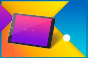 iPad平板电脑应用程序UI展示样机模板 iPad Tablet UI App Mockups with Vivid Backgrounds插图10