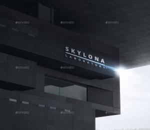 3D标志LOGO高楼墙面展示效果Mockups插图2