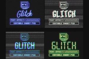 复古老电视失真信号故障PS字体样式Vol.II Photoshop Glitch Text Effects Vol. II插图15