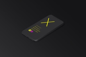极简主义iPhone X样机模板 Phone X Minimalistic Mock-Ups插图9