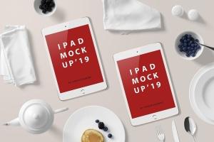 高品质的早餐场景的iPad Mini样机UI展示模型mockups插图8