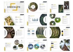 绿色大自然主题Keynote幻灯片模板素材 Greenlife – Keynote Template插图2