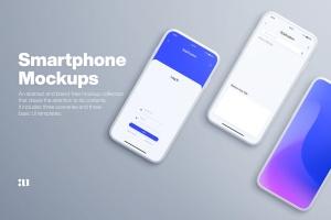 全屏智能手机屏幕预览样机模板 Smartphone Mockups插图1
