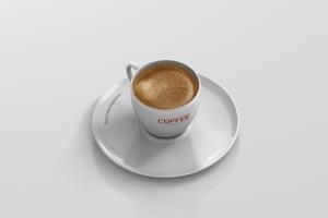 逼真咖啡杯马克杯样机模板 Coffee Cup Mockup插图3