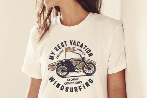 复古冲浪图案T恤印花设计素材 Surfing Retro Graphics Prints TShirt, Summer Label插图5
