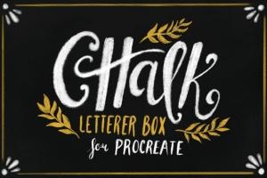 高品质字母/绘图粉笔画风格Procreate笔刷 Chalk Letterer Box for Procreate插图1