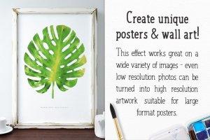 水彩插画效果PS图层样式 Watercolor Photo Effect Pro插图5