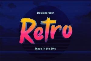 80年代复古风格3D立体PS字体样机模板v2 80's Style Text Mockups V2插图3