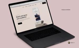 超逼真笔记本电脑屏幕演示样机模板v1 Laptop Mockups vol01插图3