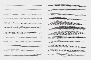 铅笔素描数码绘画AI笔刷 Vector Pencil Sketch Brushes插图(2)
