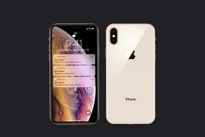 正反面视角iPhone Xs智能手机样机 New iPhone XS Mockup插图3