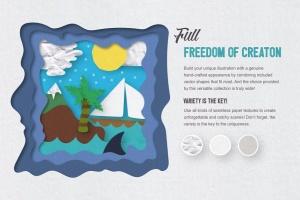 可爱剪纸艺术插画AI设计素材 Paper Kingdom Illustrator Graphic Styles插图3