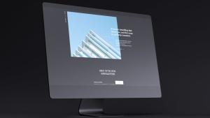 网站UI设计效果图预览黑色iMac电脑样机模板 Dark iMac Mockup插图6