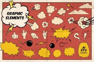 漫威&DC欧美复古漫画插画设计工具包插图(9)