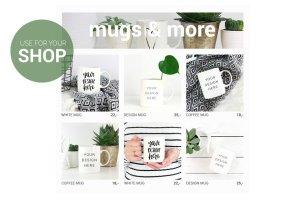 白色咖啡马克杯样机 White coffee mug mockup image插图2